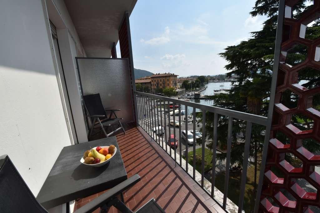 large balcony on lake iseo harbour